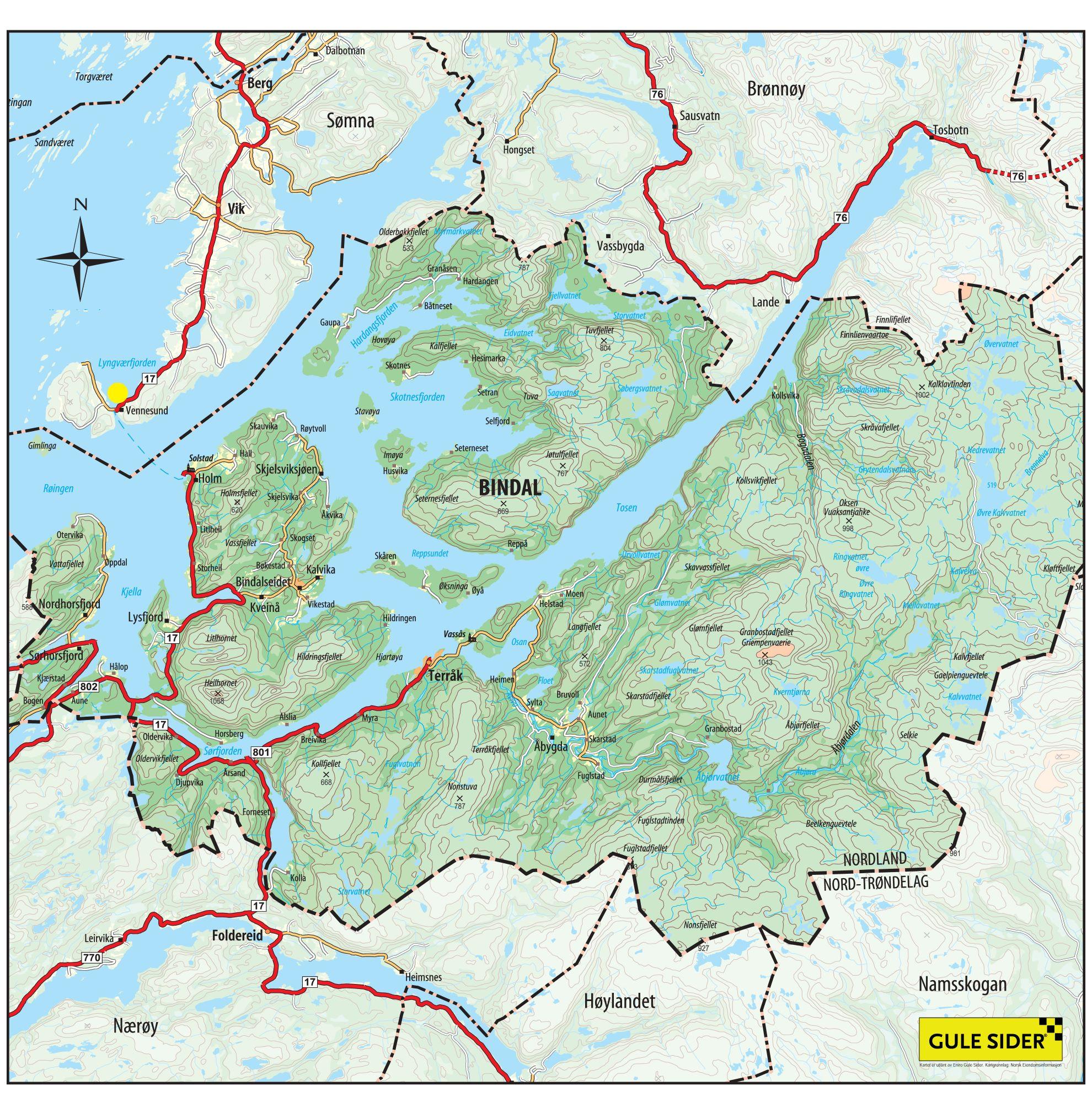 Kart Visit Heilhornet